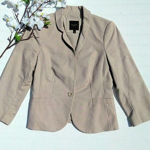 Limited single button tan blazer size small